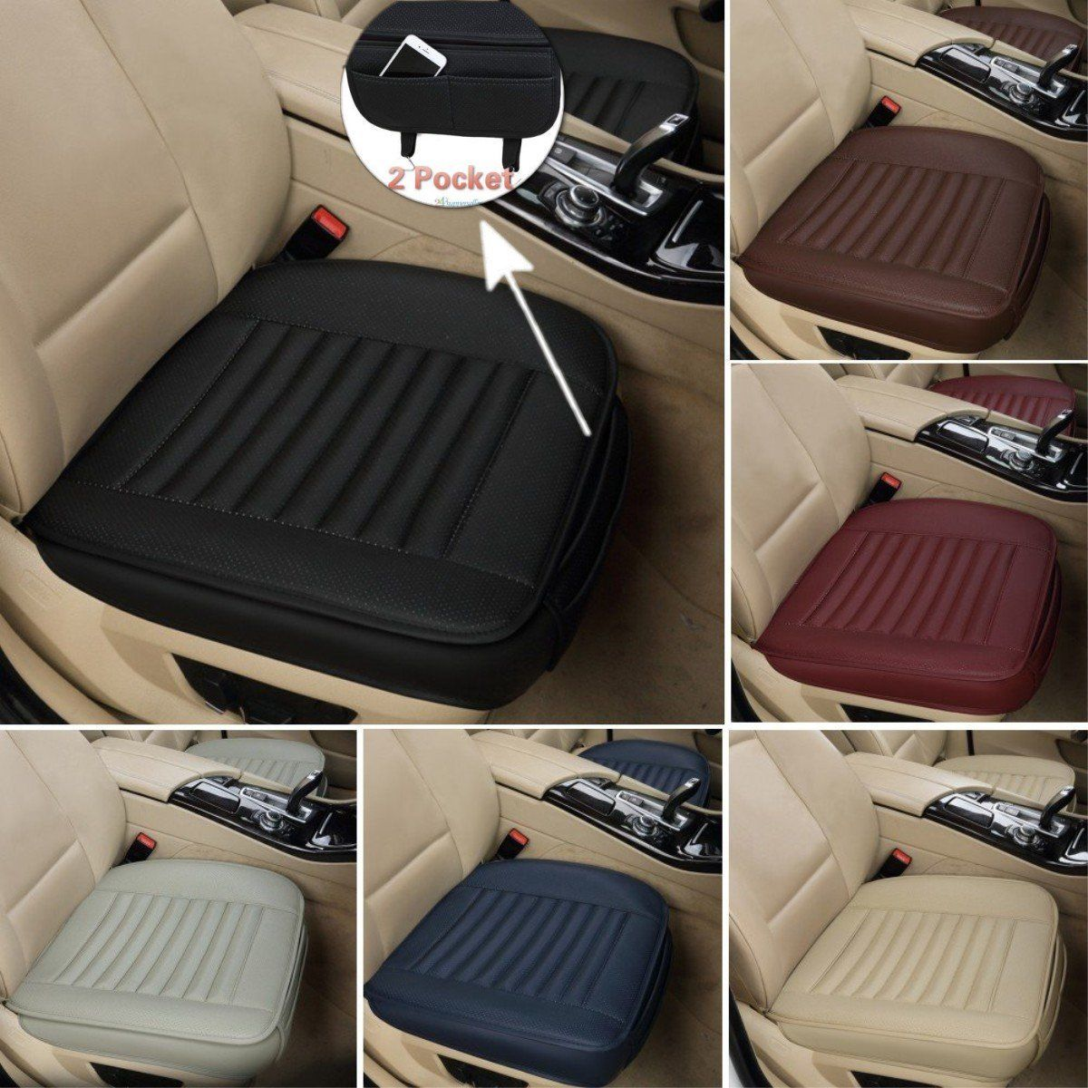 Car Front Seats Cover PU Leather Single Seat